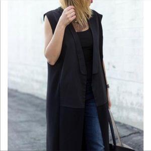 Zara black oversized tuxedo waistcoat vest